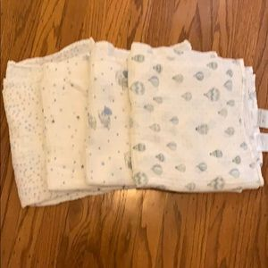 Aden + Anis Mixed Set of 4 Muslin Cotton Swaddles